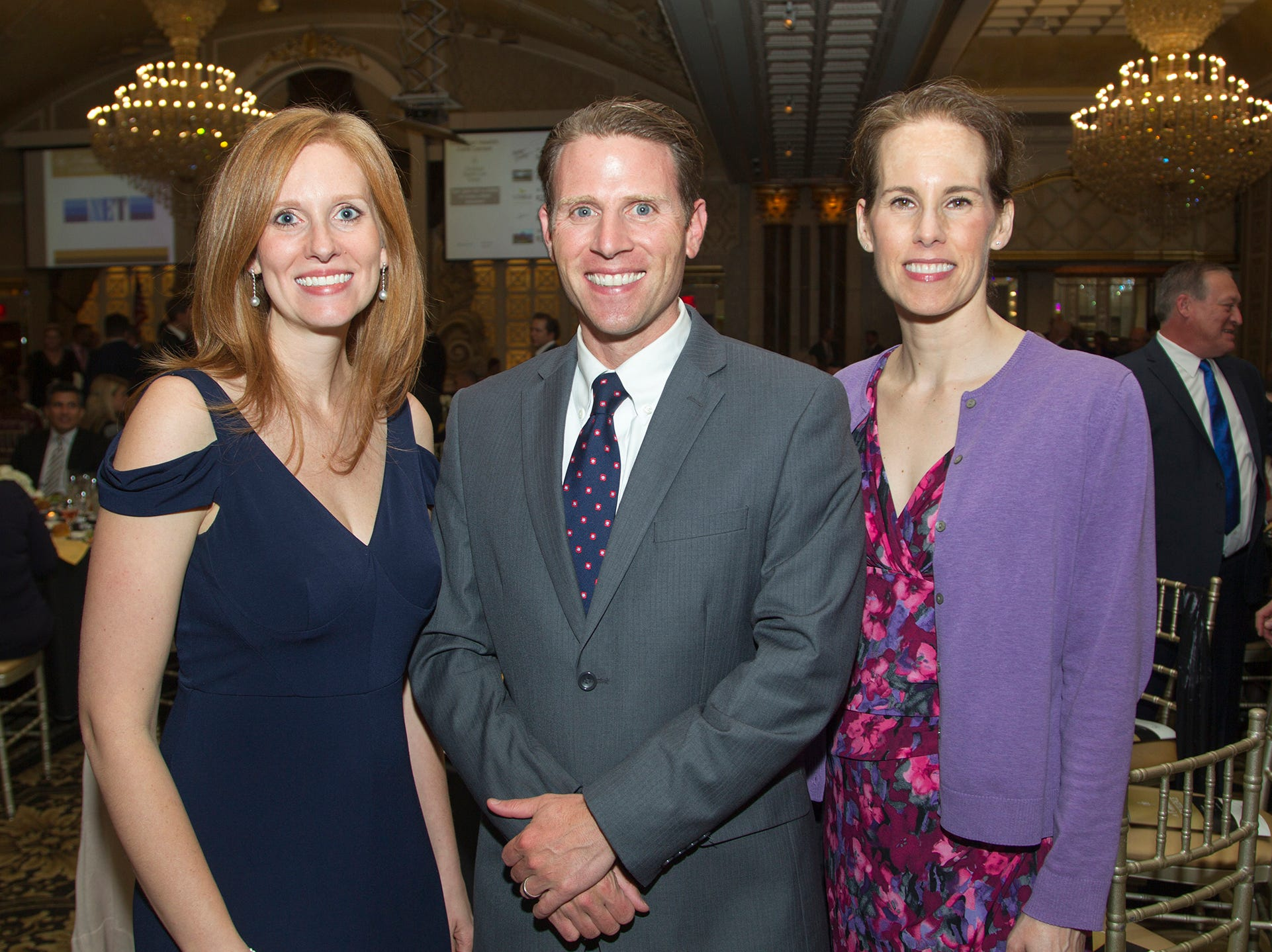 Stephanie Schadeo, John Tumminia, Gayle Whitelaw. Christian Health Care Center held its ' A Celebration of Excellence' gala at the Venetian in Garfield.  10/17/2018