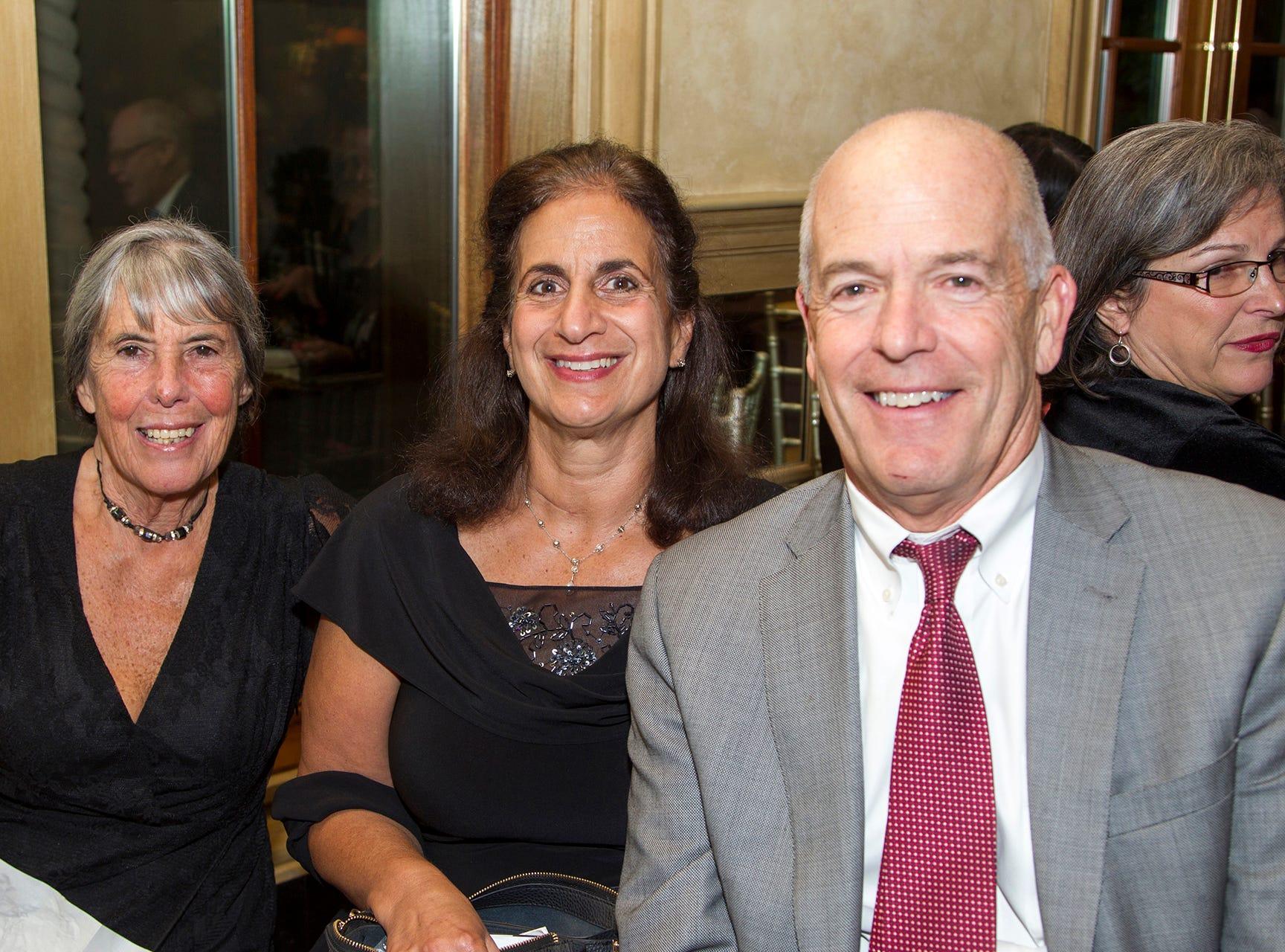 Joy Vottero, Joyce Kwiatkowski, Kevin Cornwell.  Christian Health Care Center held its ' A Celebration of Excellence' gala at the Venetian in Garfield.  10/17/2018