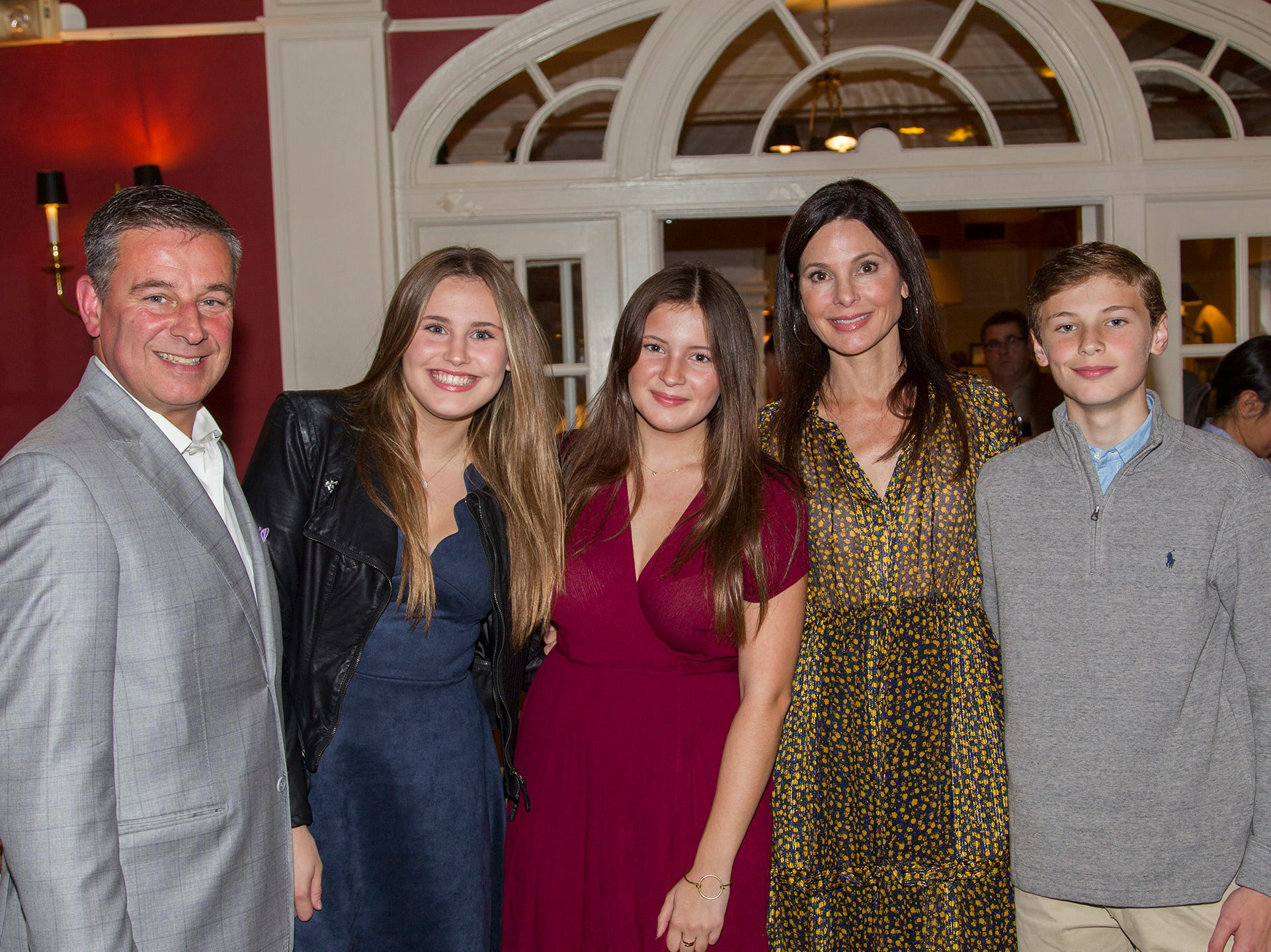 Anthony, Christine, Catherine, Lily, Dante Implicito. Seventh annual AIR Express Golf Outing honoring Dr. Dante Implicito, M.D. for his service to Hackensack University Medical Center. 10/16/2018