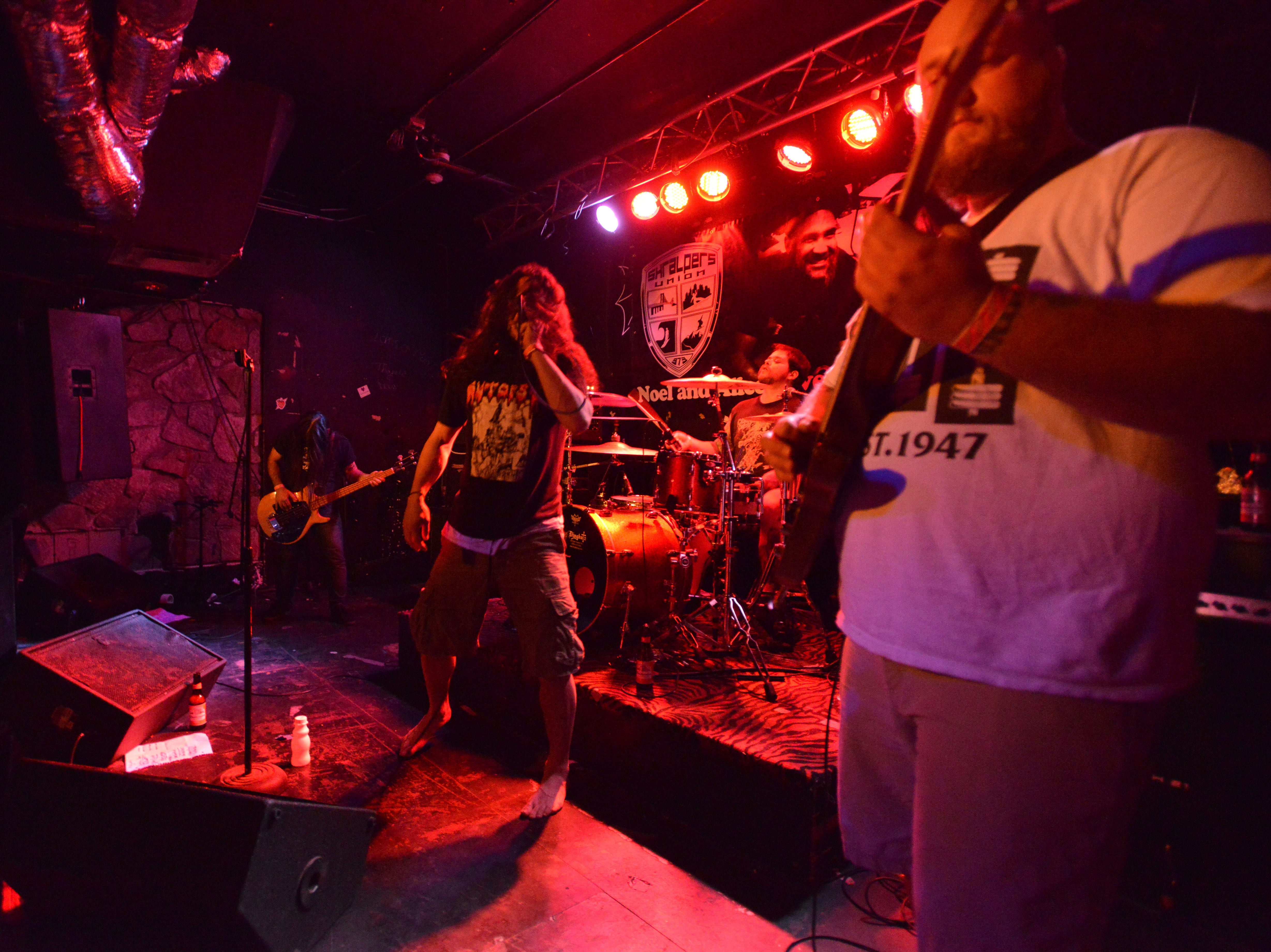 Chained to the Dead playing at the Noel Korman and Alice Park benefit at Dingbatz Bar in Clifton in 2015. On Saturday Dec. 6, 2015 Korman and his girlfriend Park tragically lost their lives in Passaic. Noel was an inspirational human being who organized skateboarding events around the country with his skate/surf/snowboard collective.
