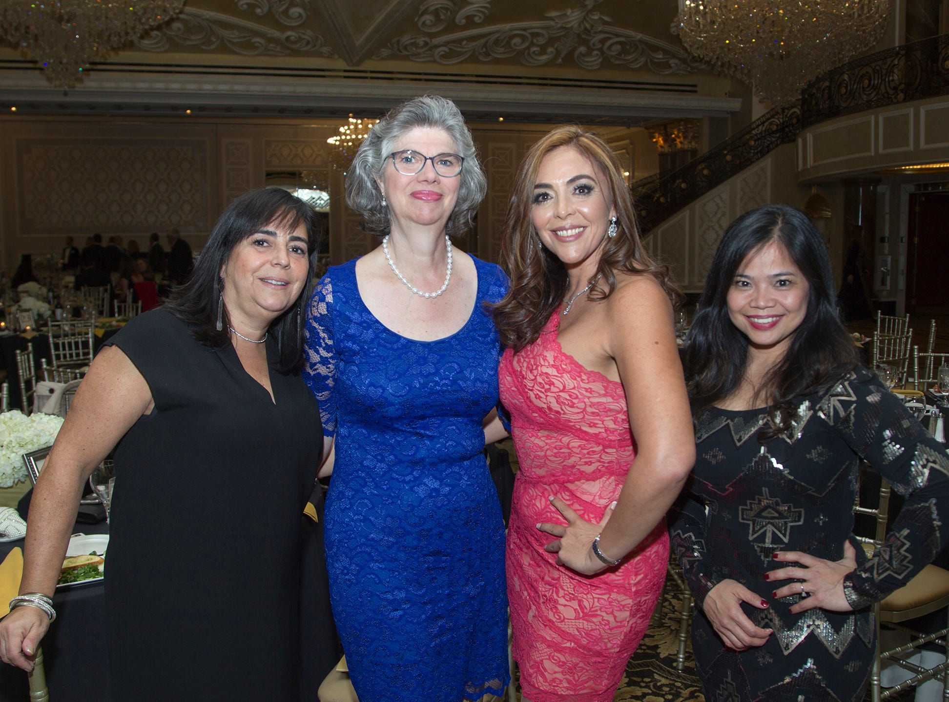Elaine Espinosa, Kimberly Martin, Alexandra Duenas, Jane Quijano. Christian Health Care Center held its ' A Celebration of Excellence' gala at the Venetian in Garfield.  10/17/2018