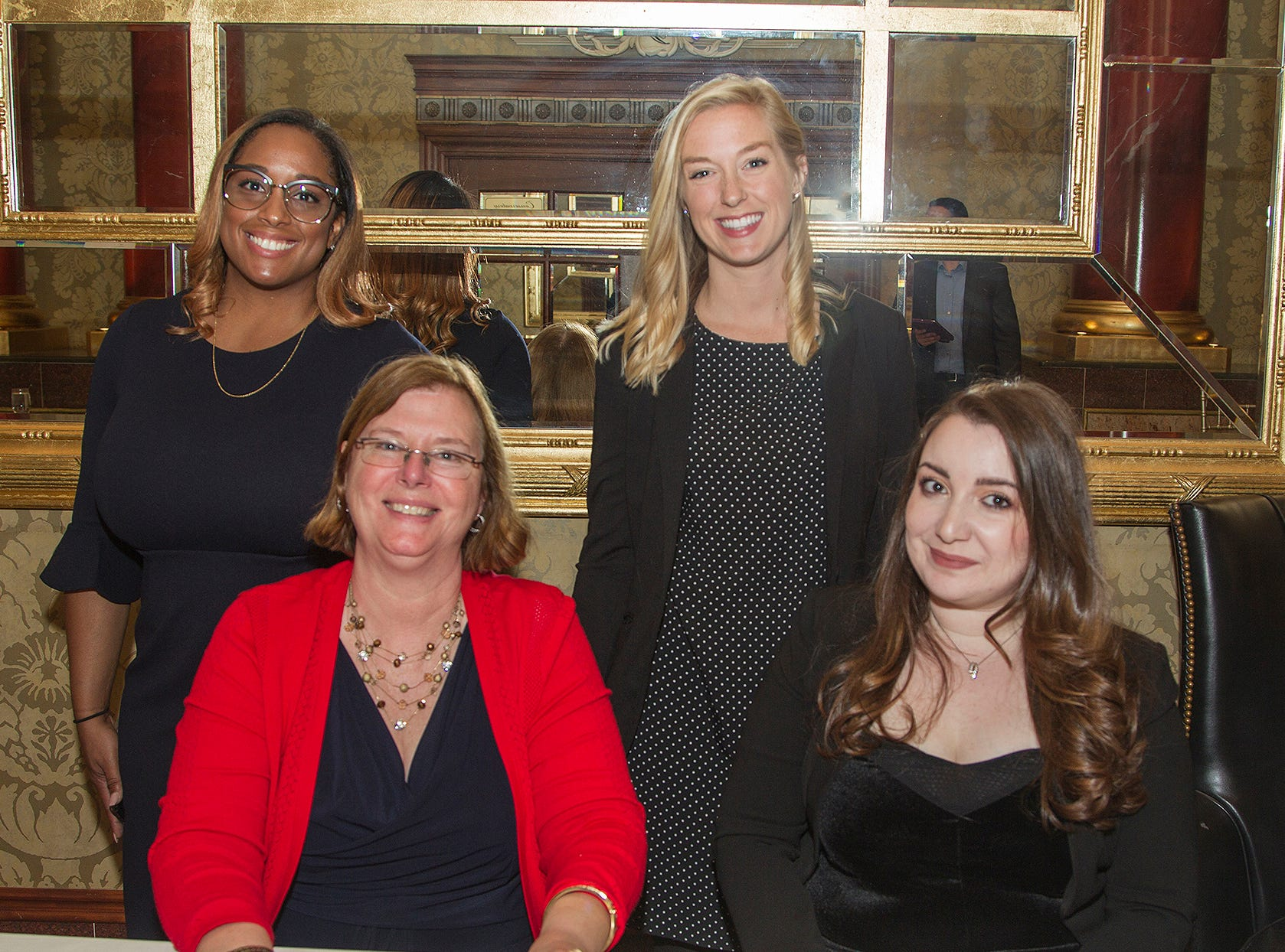 Ghuliu, Caroline Silva, Carly Ford, Lauren Mitchell. Christian Health Care Center held its ' A Celebration of Excellence' gala at the Venetian in Garfield.  10/17/2018