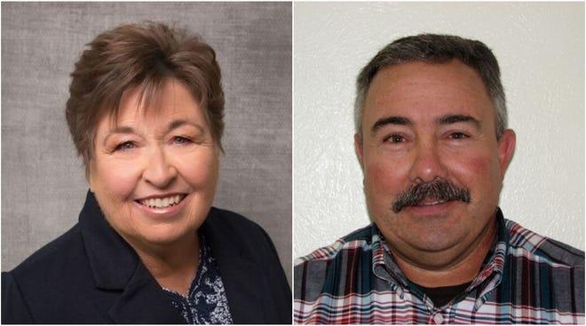 Kim Stewart, left, and Todd Garrison