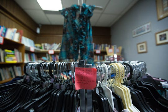 Audra's Attic, a thrift store on Main Street in downtown Las Cruces, is closing Nov. 30. Audra Veazey spoke with the Sun-News about her store closing and the effect she felt  the downtown construction had in the decision to close her store, Friday October 19, 2018.