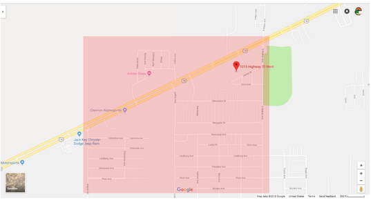 Alamogordo City utility crews shut off a water main for emergency repairs in the area of Walker Road on Friday afternoon. Water is estimated to be back on by 11 p.m., according to City Utilities Manager Ron Borunda.