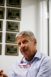 Libertarian Senate hopeful Gary Johnson's plans for a balanced budget include Medicare and Medicaid reform, Social Security reform and military spending cuts.
