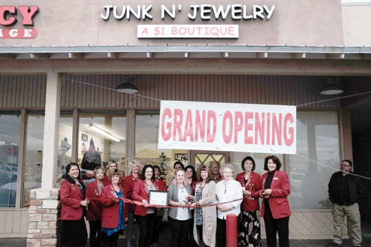 The Chamber Redcoats went to the opening of Junk & Jewelry this month at 3030 E. Main St., Ste. R1.