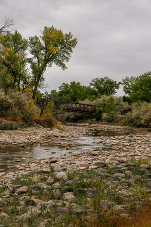 The Animas River near Berg Park in Farmington continues to flow at a rate well below normal in this Oct. 1 photo.