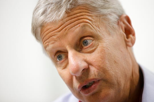 Gary Johnson served two terms as governor from 1995 to 2003, but for the past several years, he has been a member of the Libertarian Party.