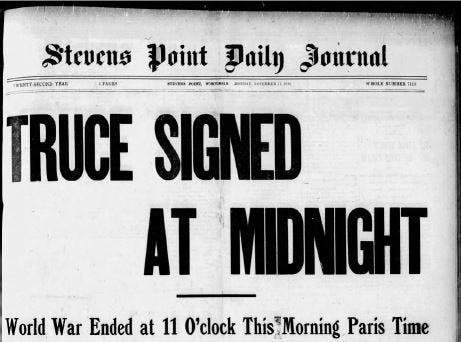 Stevens Point Daily Journal from Nov. 11, 1918.