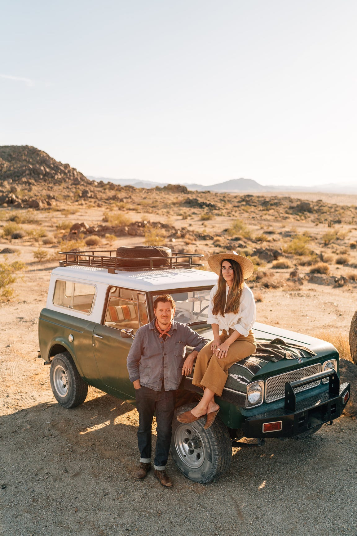 Rich (left) and Sara Combs in Joshua Tree