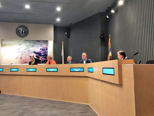 The Palm Springs City Council voted unanimously on Wednesday evening to introduce an ordinance that will extend the project's schedule by two years after the project's developer, Grit Development, sought a three-year extension due to potential unexpected labor costs.