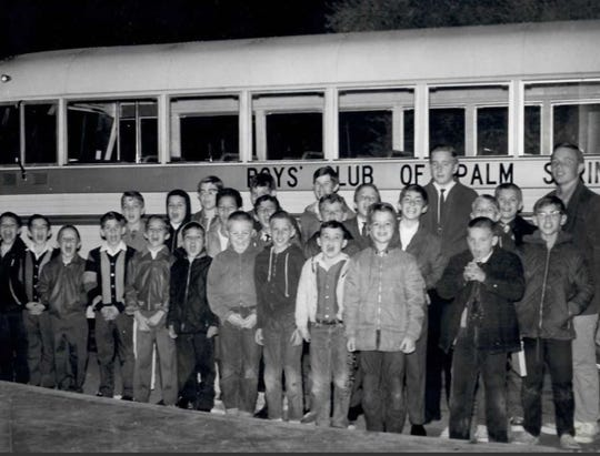 Boy's Club of Palm Springs' first clubhouse was a former military barrack. With the help of high-profile celebrities they were finally able to move into a bigger, more permanent building.