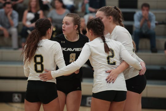 Jenna Braun (black shirt) was named the Desert Empire League's defensive player of the year.