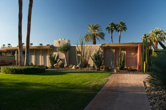Cody Court, a cluster of homes designed by desert architect William Cody, is located near the north gate of Tamarisk Country Club off of Palm View Road in Rancho Mirage.