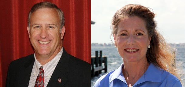 David Landfair and Patty Burke.