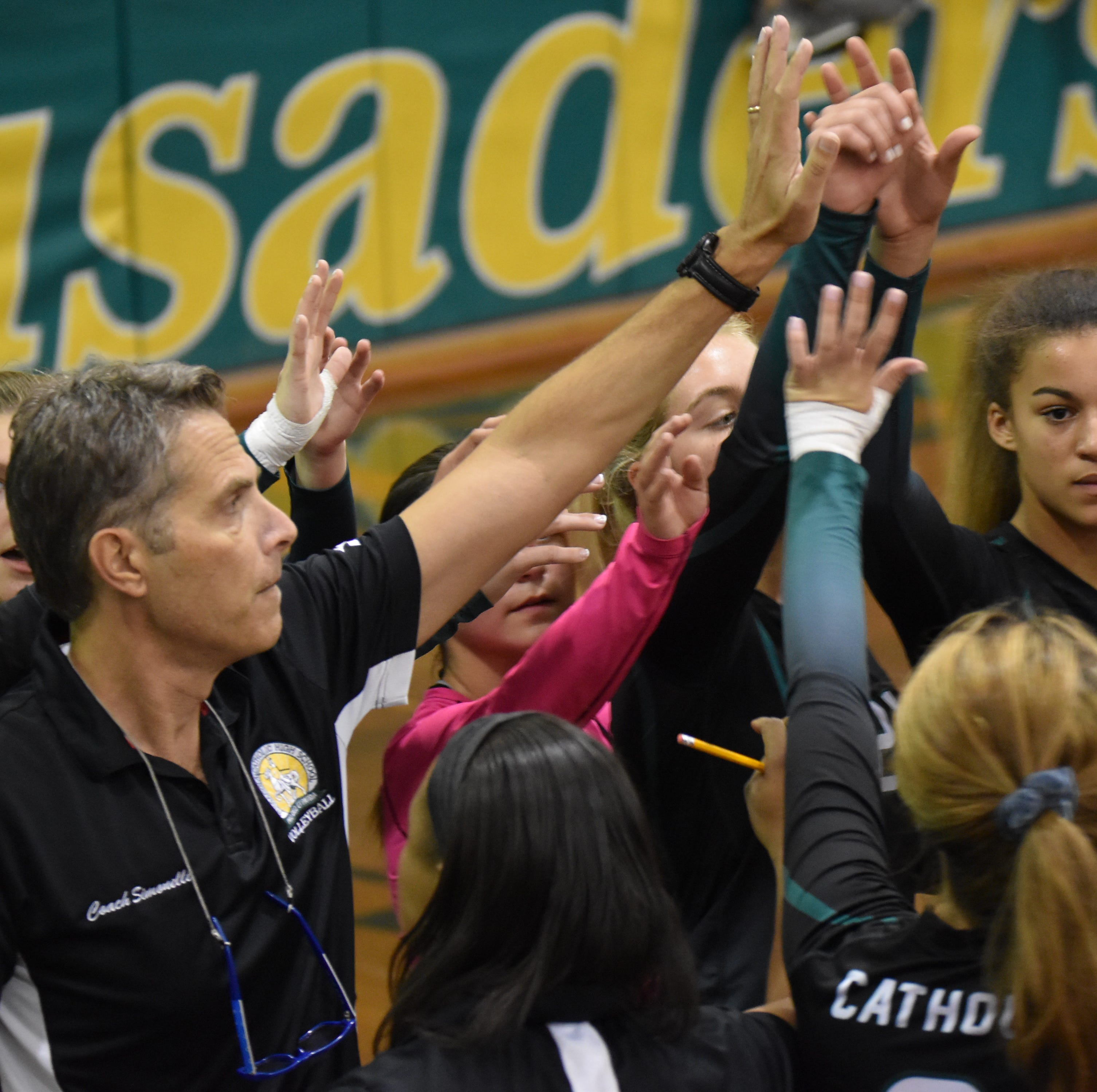 Catholic volleyball moves on in a district tourney altered by Hurricane Michael