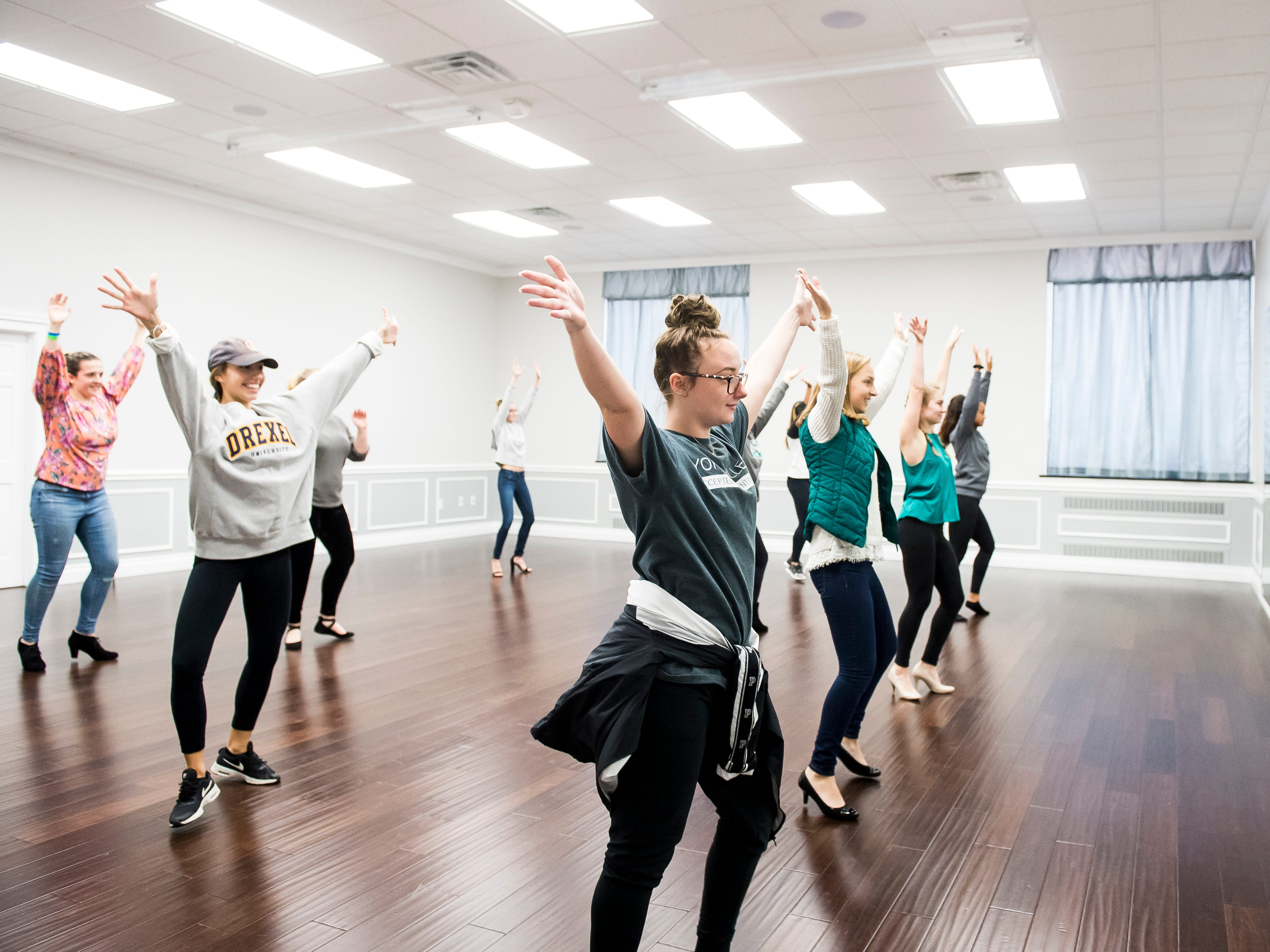 Miss Hanover Area pageant contestants practice during a dance rehearsal at PATABS in Hanover on October 14, 2018.