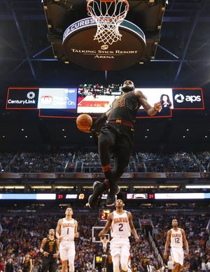 Cleveland Cavaliers forward LeBron James has had some great games against the Phoenix Suns.