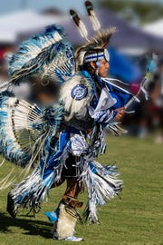 The Roy Track Memorial Mesa Pow Wow brings together people from different tribal backgrounds.   During the Roy Track Memorial Pow Wow, dancers compete in different age categories and dance styles.