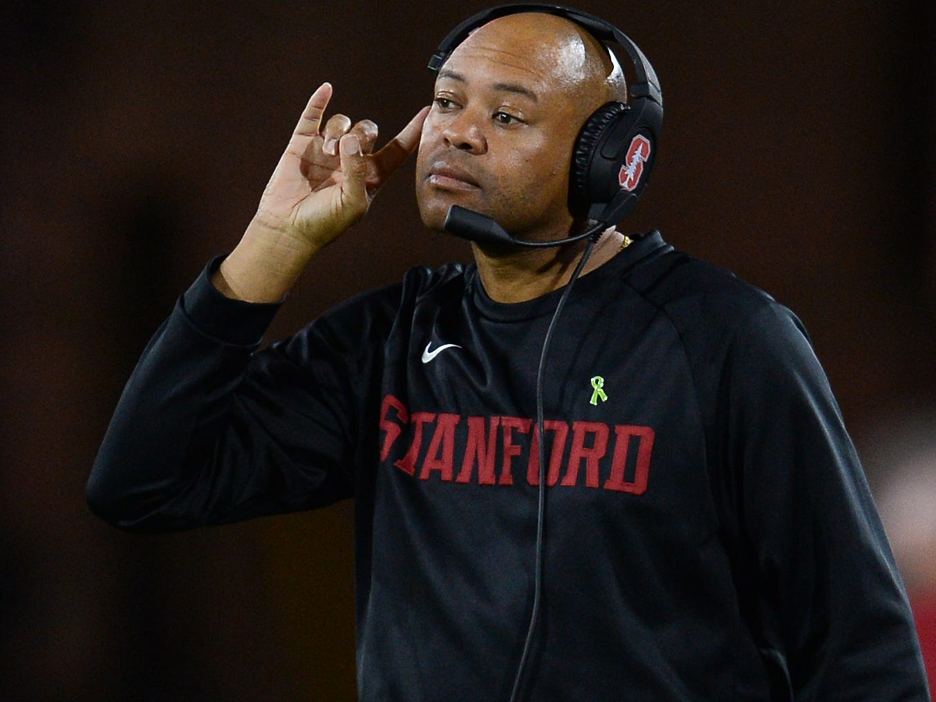 Oct 18, 2018; Tempe, AZ, USA; Stanford Cardinal head coach David Shaw looks on against the Arizona State Sun Devils during the second half at Sun Devil Stadium.