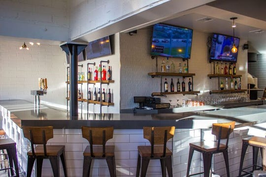 The redesigned bar inside Pomo Pizzeria in downtown Phoenix.