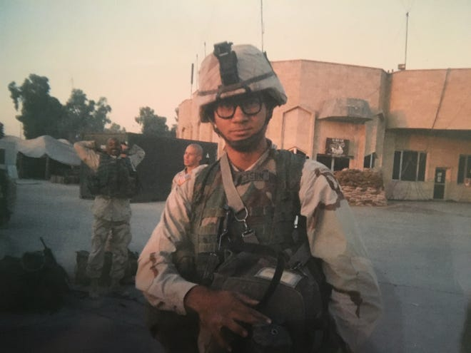 Eric Jackson on duty in Iraq in 2003.