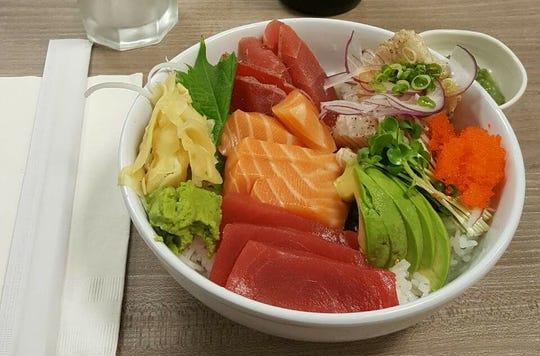 The chirashi sashimi bowl at Nagoya Sushi.