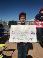 Trump supporters at the Phoenix-Mesa Gateway Airport on Oct. 19, 2018.