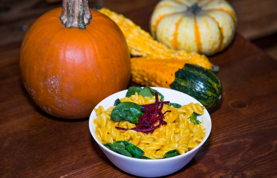 Chef Sasha Raj of 24 Carrots vegan restaurant in Tempe suggests making your own pumpkin purree, which can be used to infuse pumpkin flavor to any dish, including mac and cheese.
