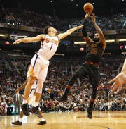 LeBron James had a triple double the last time in played in Phoenix.