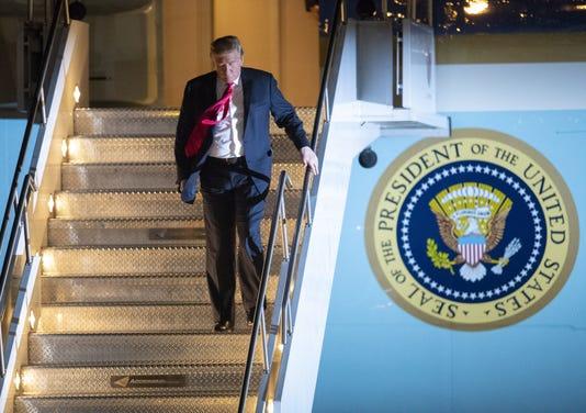 Trump Arrival