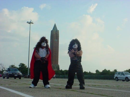 Joseph James Fatale, left, formed Mini Kiss in 1995. Seen here with Mini-Paul.