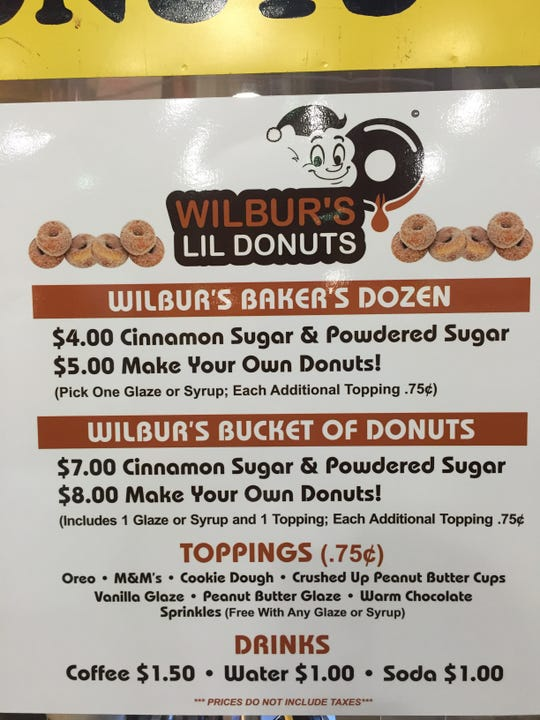 The menu at Wilbur's Lil Donuts is simple, but there is no shortage of options.
