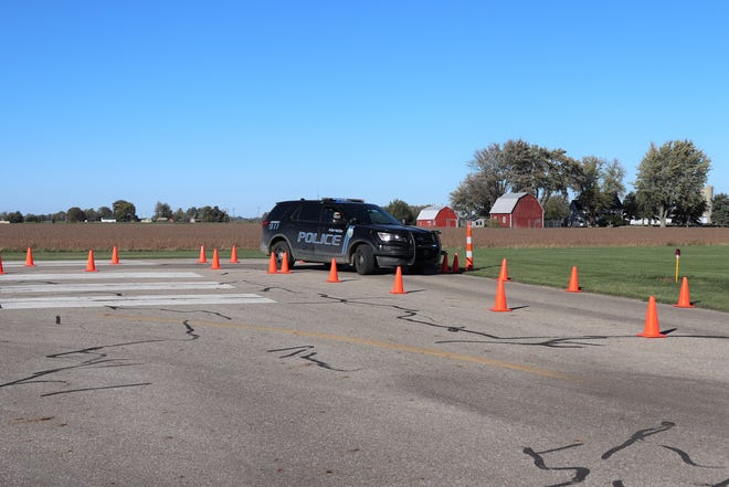 Marlette Police officers train at the Sandusky Airport.