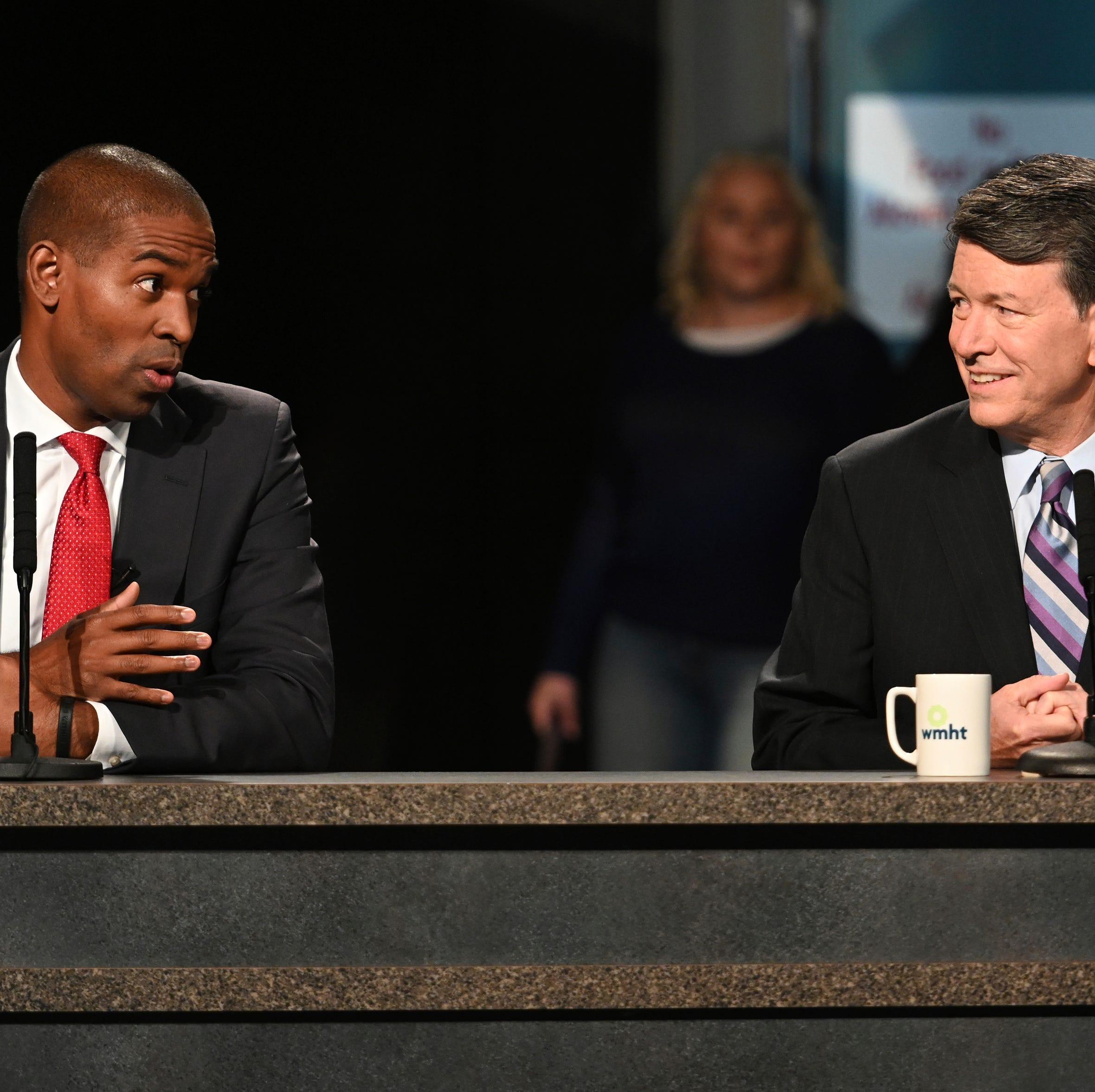 Faso, Delgado battle in first TV debate for critical House seat