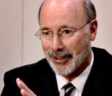 Pennsylvania Governor Tom Wolf meets with York Dispatch editorial staffers.