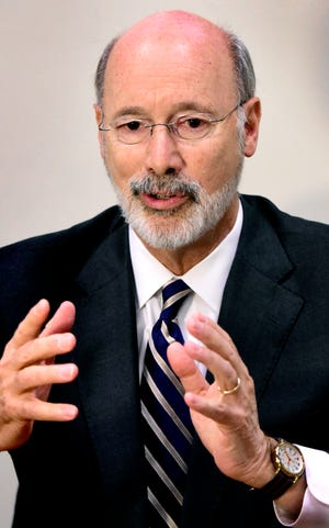 Pennsylvania Governor Tom Wolf speaks during a meeting with The York Dispatch editorial staff at the Dispatch offices Friday, October 19, 2018. Bill Kalina photo