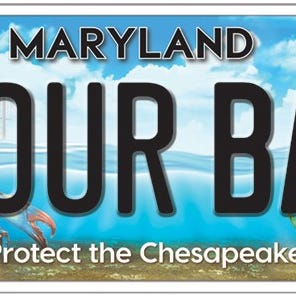 The Chesapeake Bay Trust and the Maryland Department of Transportation Motor Vehicle Administration (MDOT MVA) revealed the new design for Maryland's Chesapeake Bay license plate during a special unveiling ceremony Thursday.