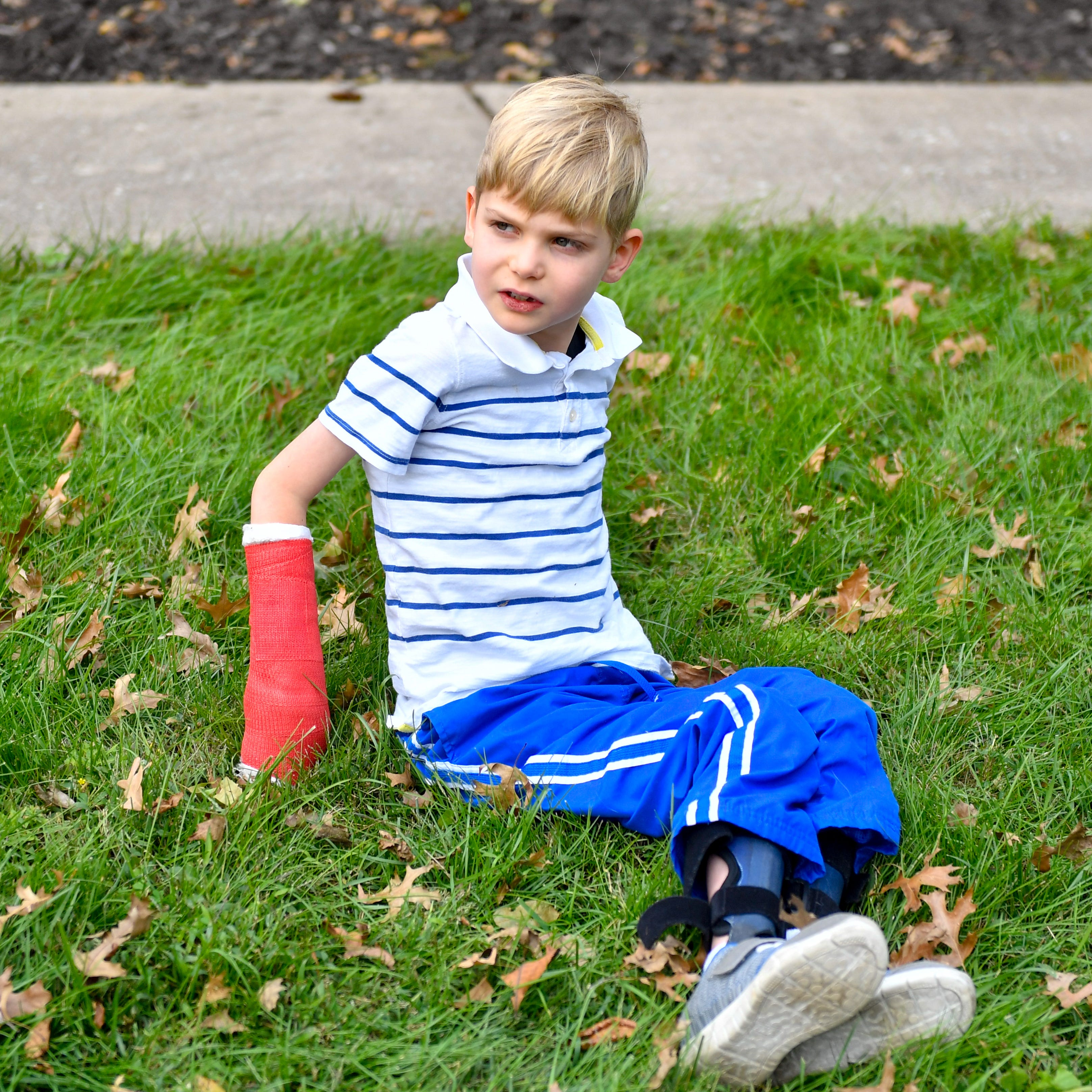 In August 2016, Sebastian Bottomley, 5, contracted a rare  polio-like disease called Acute flaccid myelitis. He could not move anything below his neck within the first few days of getting sick.