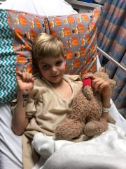 Sebastian Bottomley was diagnosed with AFM in 2016 and has had three surgeries to date.