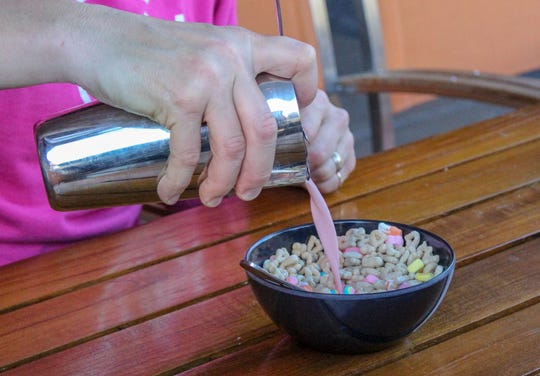At Alpine Union Bar & Kitchen in the Hard Rock Hotel & Casino in South Lake Tahoe, the Feelin' Lucky boozy breakfast features strawberry cream vodka poured over Lucky Charms.