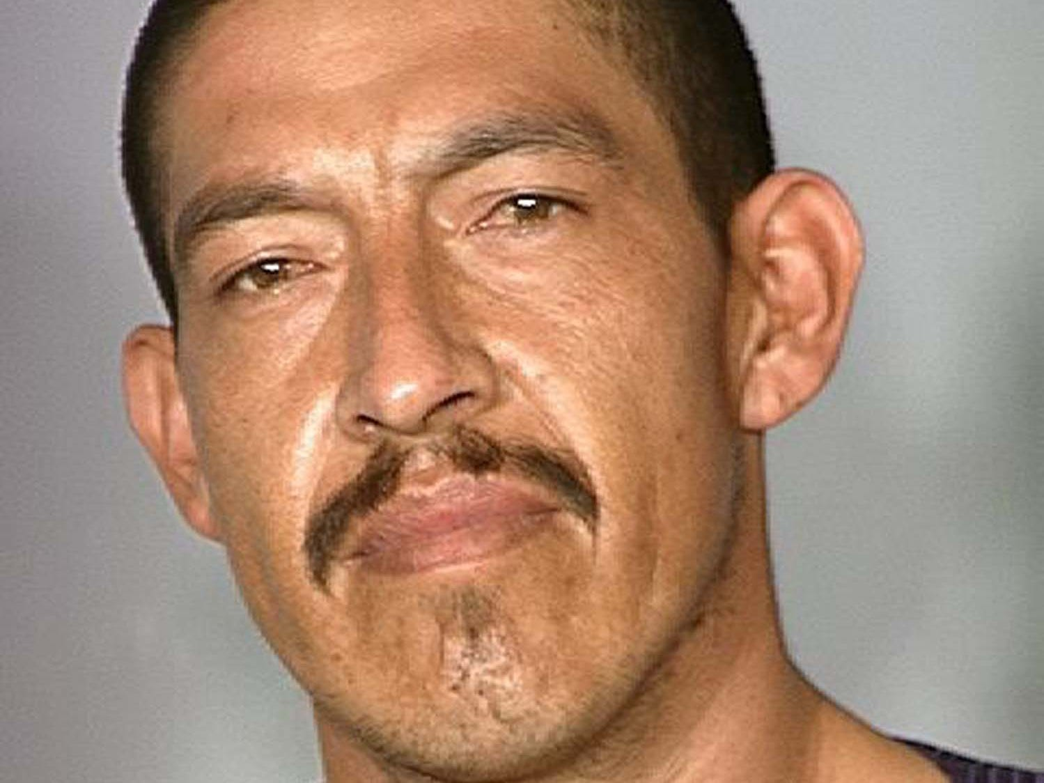 "Alejandro Cervantes-Rodriguez, 41, is wanted by the Nevada Department of Public Safety's Investigation Division for failing to appear in court for possession of a controlled substance with intent to sell. He is 6 feet 3 inches tall, weighs 170 pounds and has black hair and brown hair. He also has several tattoos including the phrase ""Trinidad Taiana Daddys Little Girl"" on his chest. He also has ties in Mesquite, Nev."