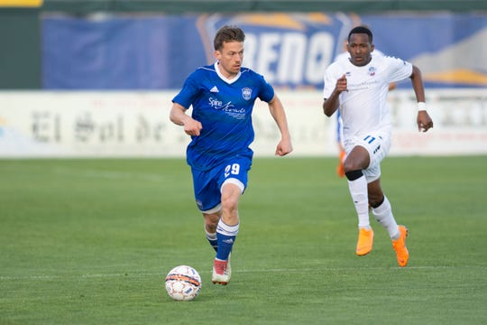 Reno forward Antoine Hoppenot was named to the USL team of the week .