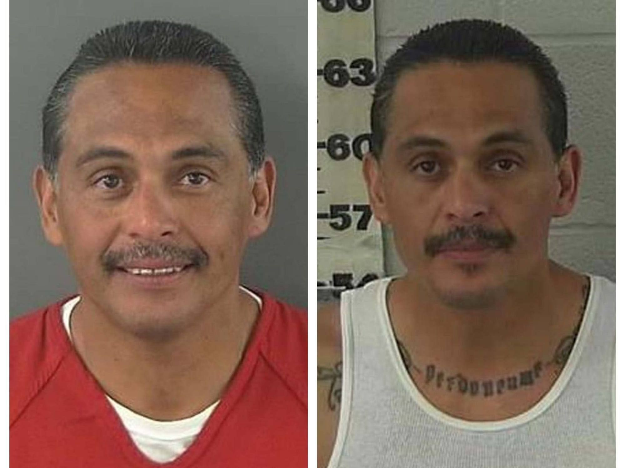 "Jesus Moreno Morones Jr., 49, is wanted by the Nevada Department of Public Safety's Investigation Division for trafficking, selling or transporting methamphetamine. He is 5 feet 7 inches tall and weighs 155 pounds. He has multiple tattoos including the name ""Morones"" on his neck and ""Laura Mi Madresita Q"" on his chest. He also has the word ""pride"" on his arm, among other tattoos. He was described as having violent tendencies and is known to abuse drugs and alcohol. He also has ties in California and Utah."
