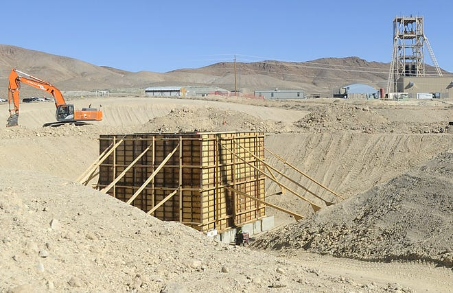 A second, 12-foot diameter shaft is being constructed west of the main shaft for ventilation and emergency egress.