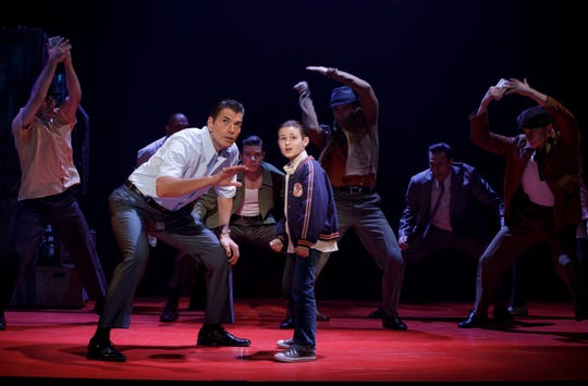 "Joe  Barbara (Sonny) and Frankie Leoni  (Young  C) and Company of ""A Bronx Tale."""