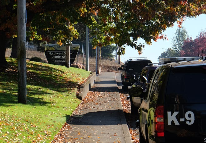 Police are investigating a possible burglary at the Bureau of Land Management office in Salem.