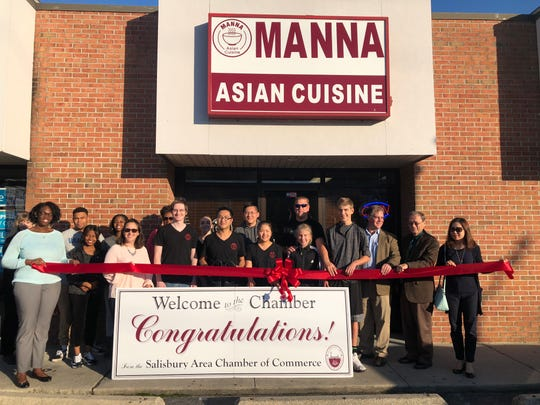 Manna Asian Cuisine commemorated their new Salisbury Area Chamber membership and Women's Entrepreneurship Week on Oct. 17, 2018.