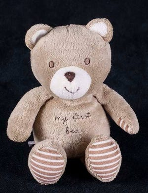Little Ryleigh's missing teddy.